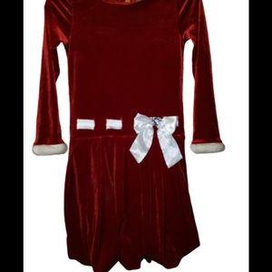 5/$20 Youngland Sz 10 Red Dress Christmas Kids